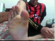 straight guys feet on webcam 61 - soccer plyr from colombia