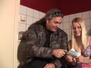 Blond amsterdam hooker cumsprayed by client