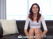 CastingCouch-X - Redhead Ashlynn Molloy with long legs cums