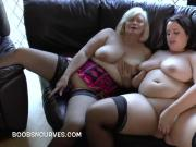 Mature Lacey Starr with a young babe