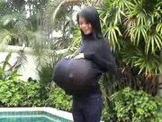 Busty Asian Sucks Fat Cock!!!