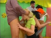 students Part 2 3 teens play in orgy with 2 man