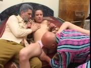 Teen fucked by 2 Grandpas