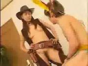 Japanese cowgirl captures and rides her human