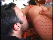 Slutty Bitch Fills Three Holes