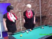 Naughty Pool Hall antics with Granny Kim
