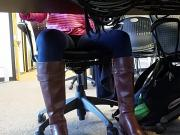 Hot Boots under the table