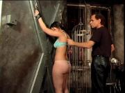 Smoking hot chick spanked in a BDSM session