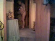 My mom undressing to go to bed. Hidden cam