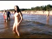 Hot naked dance gets an all over tan at the beach