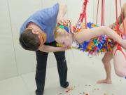Ass Pinata -- Brutal anal destruction for a sweet blond