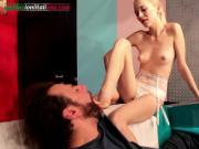 Elisa's Nephew Part 3 - Skinny Girl Barefoot Licking