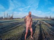 Guy reaching orgasm in risky open area outdoor
