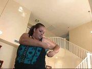 Ebony BBW Cutie teasing with her huge tits