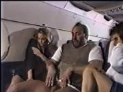 Blowjob in an airplane