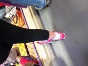 Thick Latina in Leggings