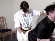Mistress Kerry strapon slave