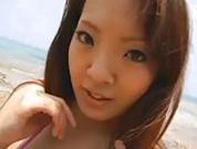 Hitomi Tanaka - Threesome on Beach - M27
