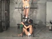 Japanese femdom gal enjoy by obedience slaves