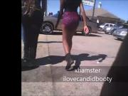candid ebony teen in red booty shorts pt1lost footage 2013