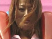 Japanese girl on funfair