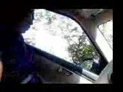 Tamil maid feeling dick in car