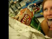 Blow job at the supermarket