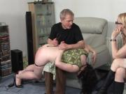 Plump Girl Spanked by Aunt and Uncle