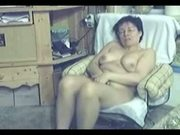 My mom home alone caught masturbating by hidden cam
