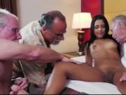 Old men seduce young woman