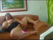 Horny Delicious BBW Latina with Big Tits playing on cam