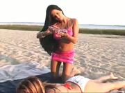 Three Hot Lesbians love the Beach...F70