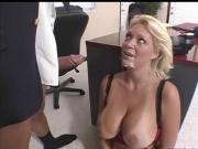 Beautiful Charlee serves her boss