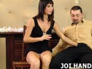Your big cock feels good in my little hands JOI