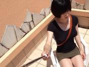 crossdresser in mini skirt taken with smartphone