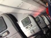 Stewardess in red