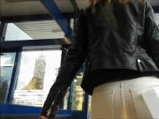 voyeur street tight teen ass in jeans 1
