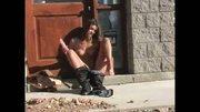 Gabriella Masturbating Outside