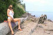 Ciara Laines Beach Squirt