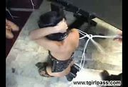 Tied Up Tgirl Gets Pleasured