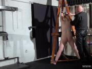 Swedish amateur submissive Vicky Valkyries dungeon bondage