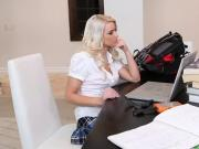 hot college blond fucks the tutor