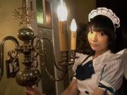 Cute japanese maid shows her timid panties