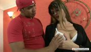 Shemale Daniela Gets Fucked and Nice Cumshot on Her Tits