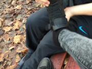 Teen Lisa 19j Feet Socken ausziehen und anwichsen