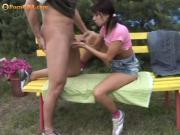 Teen couples outdoor sex