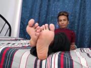 Asian Twink Derick Foot Fetish Jerk Off