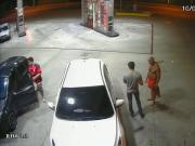 Public gas station blowjob caught on security cam