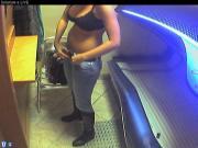 Voyeur webcam nude girl in solarium part24