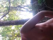 Cumming in the woods